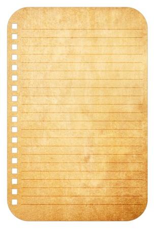Vieux papier vintage note de fond Banque d'images