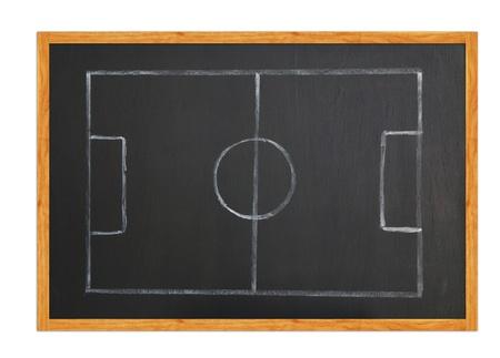Blackboard classroom soccer tactics team Stock Photo - 12232011
