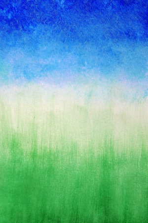 Sky and grass ,watercolor abstract background  photo