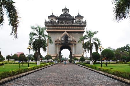 Patuxay in Vientiane, Laos Editorial