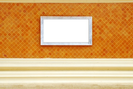Frame on wall background texture Stock Photo - 12969052