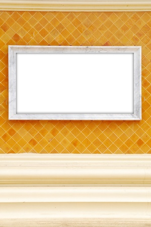 Frame on wall background texture Stock Photo - 12969050