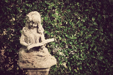 angel cemetery: Ancient statues ,Vintage style