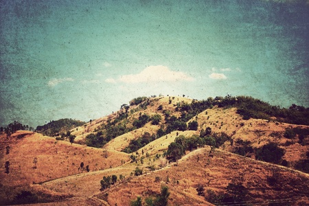 hillock: Mountains Abstract paper background,Vintage style