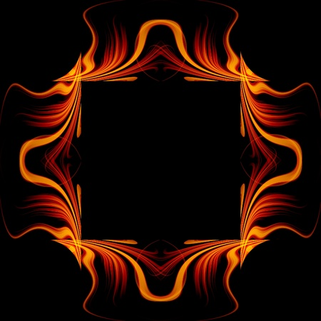Abstract glow frame background with fire flow Stock Photo - 13595368
