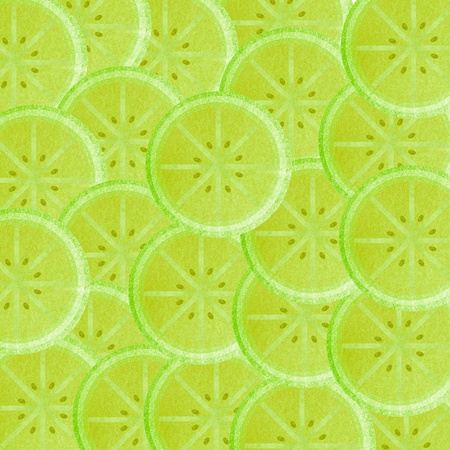 Lime slice background Stock Photo - 13726021