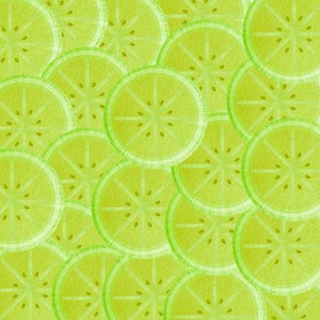 Lime slice background Stock Photo - 13726021