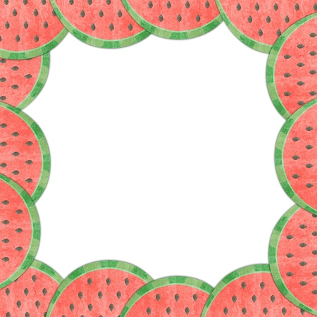 Melon lining to the frame isolated  photo