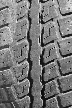 slant: Close up old tire texture