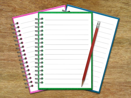 Blank Paper with Notebook Stock Photo - 14441099