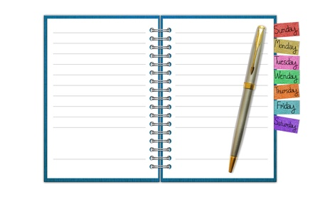 Blank Paper with Notebook Stock Photo - 14441094
