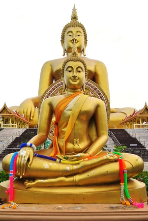 big buddha: Big buddha statue at Wat muang temple in thailand Stock Photo