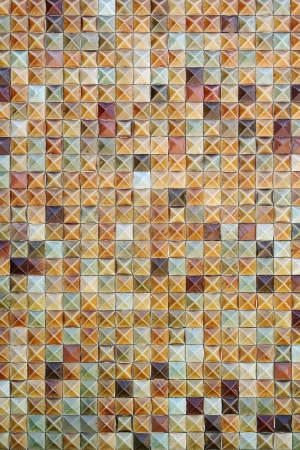 Brown mosaic tiles background texture Stock Photo - 14600510