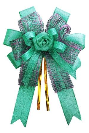Gift bow  Ribbon  Isolated on white Stock Photo - 15185322