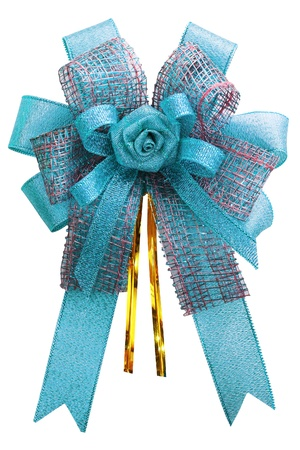 Gift bow  Ribbon  Isolated on white Stock Photo - 15185346