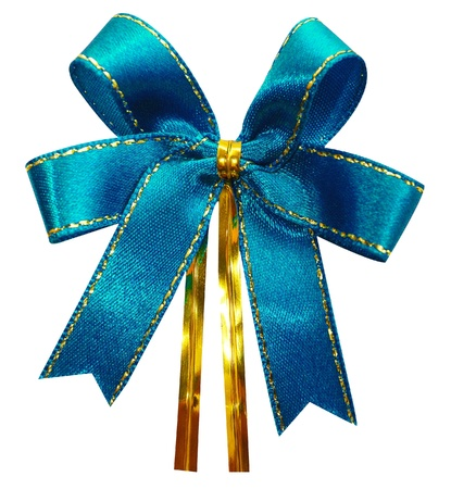 Gift bow  Ribbon  Isolated on white Stock Photo - 15185970