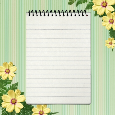 notebook cover: Notebook in scrap-booking style