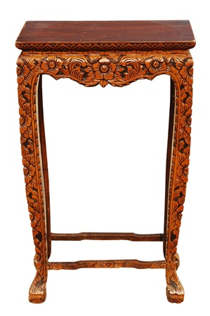 Carved wooden table Stock Photo - 15186123