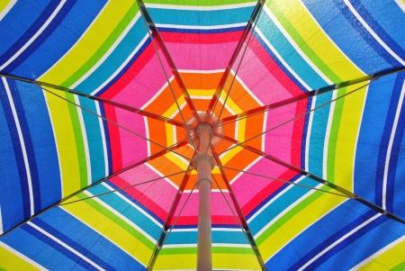 porches: Beach umbrella on a summer day