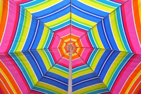 Beach umbrella on a summer day photo