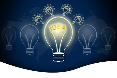Bulb light idea photo