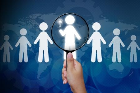 talents: Choisir la bonne personne d'un groupe Banque d'images