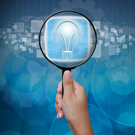 inspect: Bulbs button in Magnifying glass