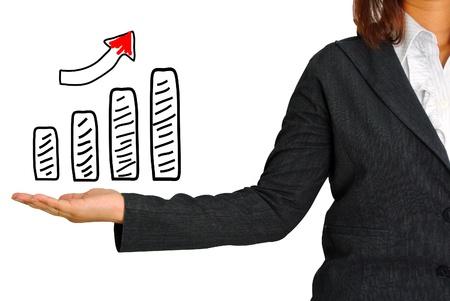 savings risk: Graph on hand women business