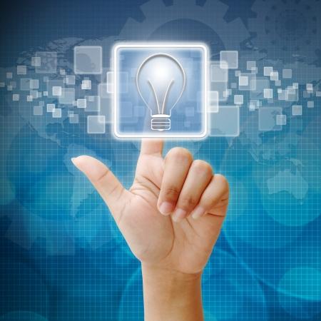 Icône de presse ampoule pour concept d'entreprise Banque d'images