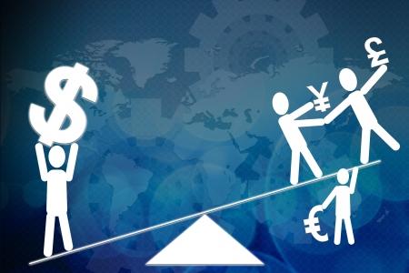 congruity: Segno di dollaro e valuta sulla bilancia