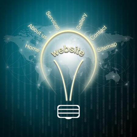 Website planning concept Stock Photo - 15052713