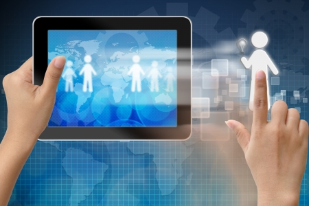 headhunting: Choosing the talent person for hiring in tablet-pc