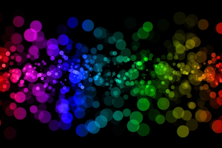 gleam: Abstract light background with bokeh pattern