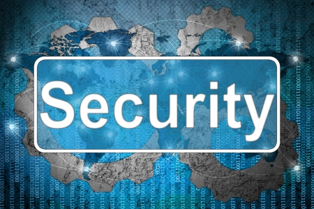La sécurité de Word sur fond de réseau Banque d'images