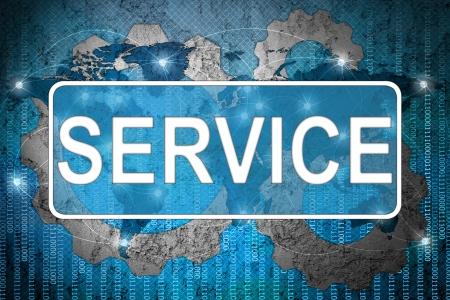 Word Service on network background Stock Photo - 15542681