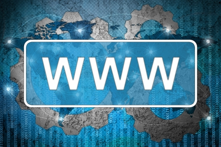 Word www on network background Stock Photo - 15542680