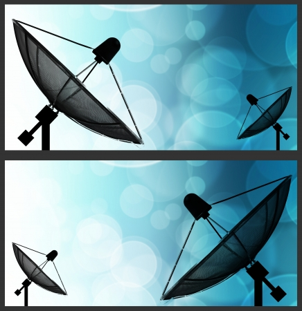 microwave antenna: Satellite dish on global background for Communication and technology