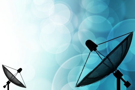 data transmission: Satellite dish on global background for Communication and technology