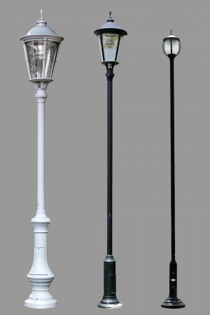 street lamp: Lamp Post Lamppost Street Road Light Pole isolated