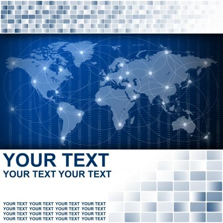 Carte du monde dans Résumé antécédents en affaires Banque d'images - 16002073