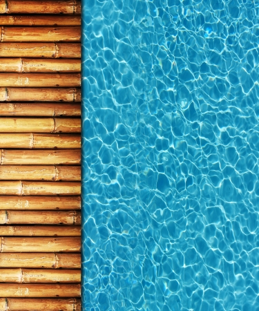 Cool water in swimming pool background