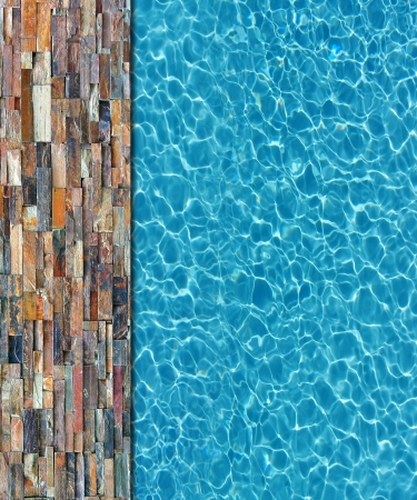 refraction of light: Cool water in swimming pool background