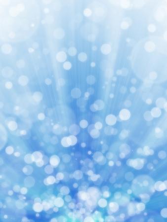 Blue bokeh fond clair abstrait