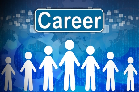 Career ,Business concept in word Human resources photo