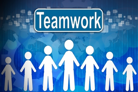 Teamwork ,Business concept in word Human resources  photo