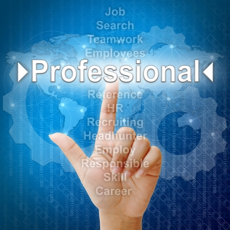 Professional,Business concept in word for Human resources Stock Photo
