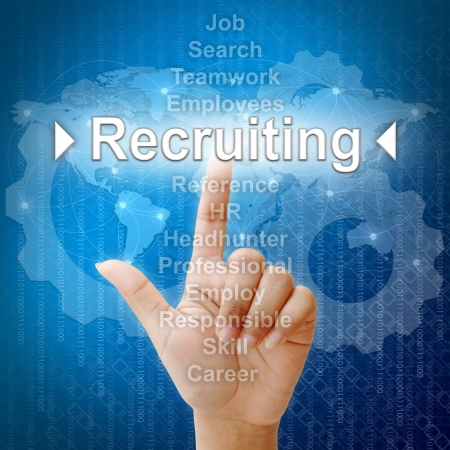 human resource: Recruiting,Business concept in word for Human resources Stock Photo