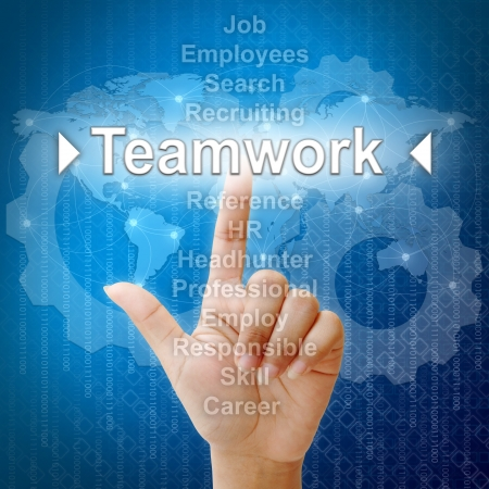 Teamwork ,Business concept in word for Human resources photo