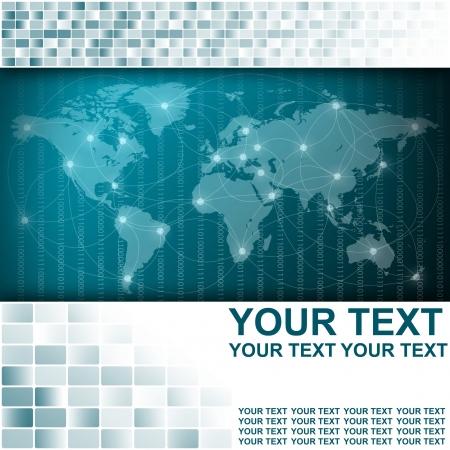 Carte du monde dans Résumé antécédents en affaires Banque d'images - 17744239