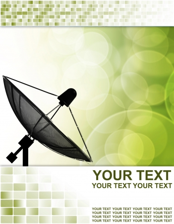tv network: Satellite dish for Communication and technology ,Abstract business background
